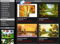 Thiết kế website bán khung tranh chuyên nghiệp đẹp mắt