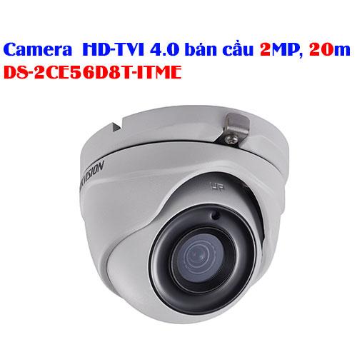 Camera HD-TVI 4.0 bán cầu 2MP, 20m HIKVISION DS-2CE56D8T-ITME