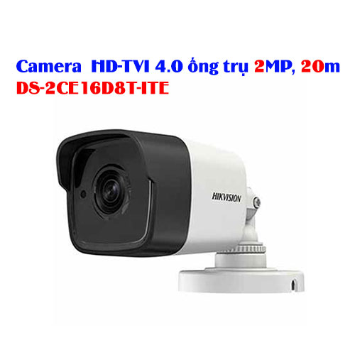 Camera HD-TVI 4.0 ống trụ 2MP, 20m HIKVISION DS-2CE16D8T-ITE
