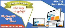 Thiết kế website nhà máy xí nghiệp chuẩn SEO