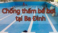 Chống thấm bể bơi tại Ba Đình