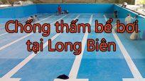 Chống thấm bể bơi tại Long Biên