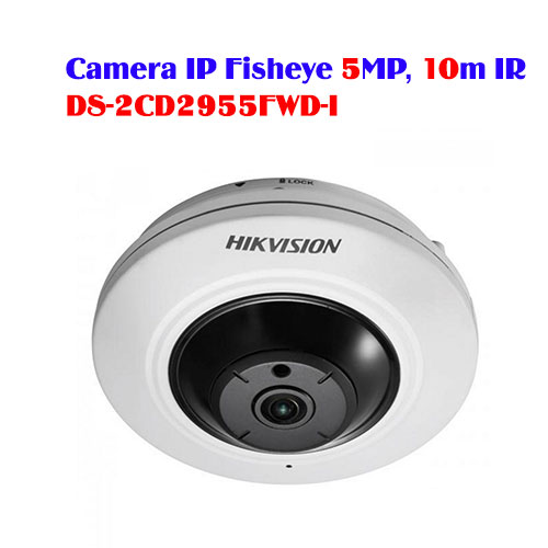 Camera IP Fisheye 5MP, 10m IR HIKVISION DS-2CD2955FWD-I