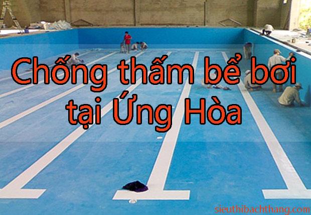 Chống thấm bể bơi tại Ứng Hòa