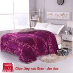 Chăn lông cừu nanara rose đỏ phi