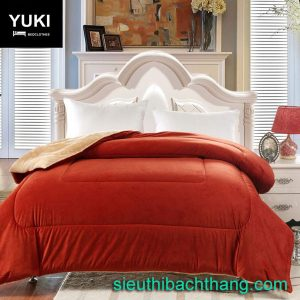 Chăn lông cừu nhật yuki đỏ