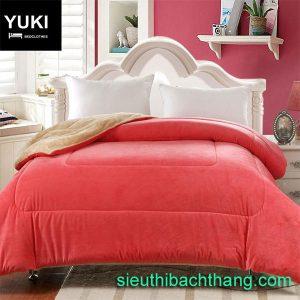 Chăn lông cừu nhật yuki hồng phấn