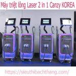 Máy triệt lông laser 2 in 1 Canzy korea Hàn Quốc